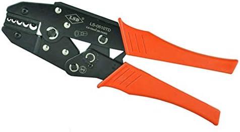 ケーブルカッター 非絶縁端子 コネクタ用 ラチェット端子 圧着ペンチ 0.5-10mm²/ 22-8AWG ハンド圧着工具 手動ケーブルカッター