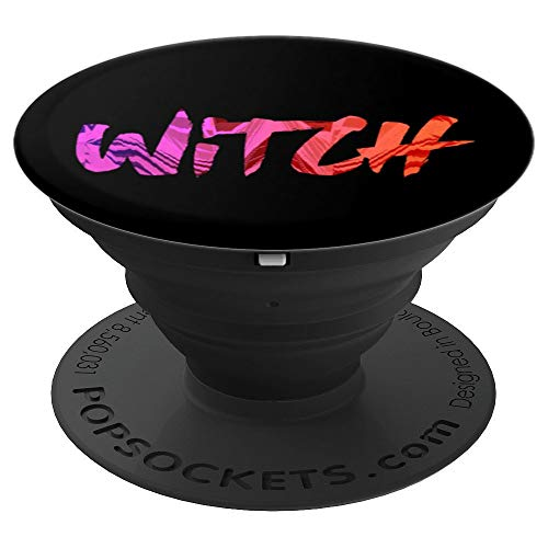 Witch Wiccan Pagan Priestess Gothic Text - PopSockets Grip and Stand for Phones and Tablets -