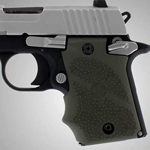 Hogue 98081 Sig P938 Rubber Grip, Ambidextrous, with Finger Grooves (Sig Grips P938)