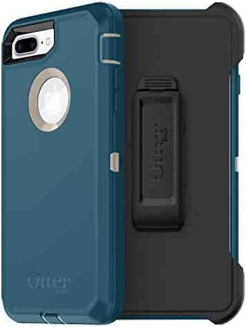 OtterBox DEFENDER SERIES Case for  iPhone 8 Plus & iPhone 7 Plus (ONLY) - Frustration Free Packaging - BIG SUR (PALE BEIGE/CORSAIR)