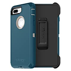 Worry less while you're on the job. Defender Series for iPhone 8 Plus & iPhone 7 Plus combines three ultra-tough layers to guard your device against serious drops, dirt, scrapes and bumps. The built-in screen film stops display scratches,...