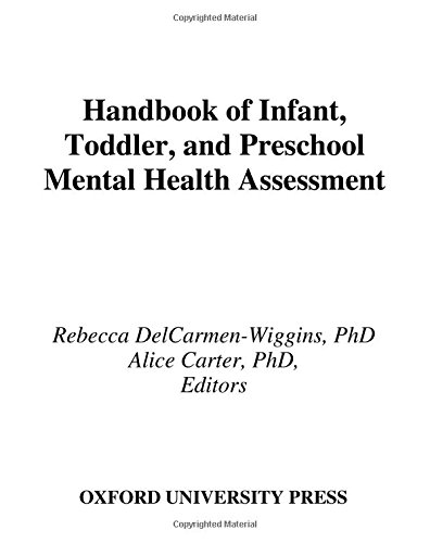 Handbook Of Infant, Toddler, And Preschool Mental Health