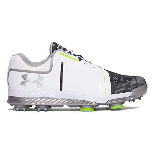 Under Armour Womens UA Tempo Sport Golf Shoes White/Steel/Lime Fizz 9 M