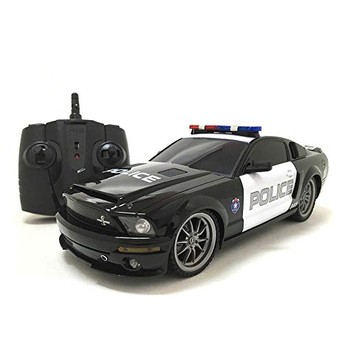 XQ 2.4 GHz 1:18-scale Ford Mustang Shelby GT350 Multi-channel Remote Control Police Car