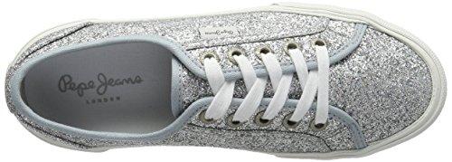 Flash Aberlady Silver Pepe Jeans Zapatillas para Plateado Mujer qB4E45xw