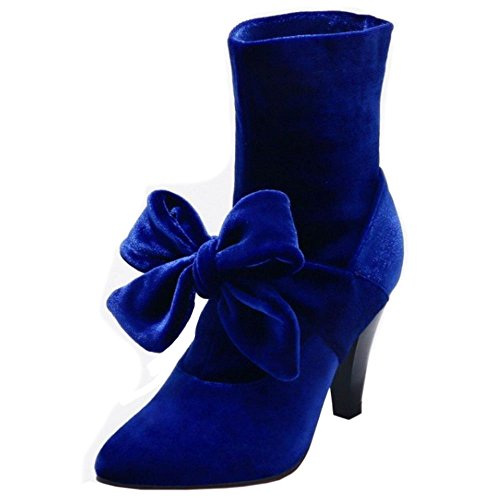 TAOFFEN Women's Booties Boots Blue