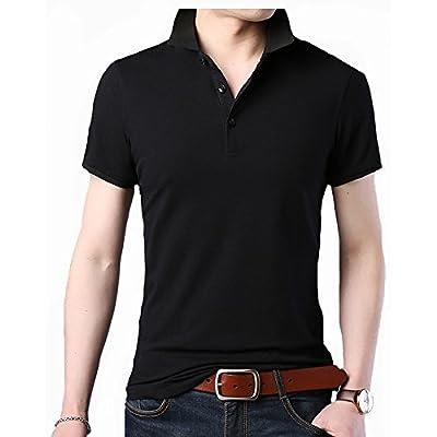 a9548922b10fd ITrustit ポロシャツ メンズ 半袖ポロシャツ 二重衿 無地 カジュアル ゴルフ シャツ ゴルフウェア シンプル 通気性 夏 87716