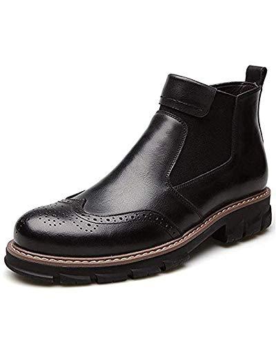 JJK Herren-Leder Martin Ankle Stiefelie Chelsea Stiefel Business Dress Schuhe,schwarz,39
