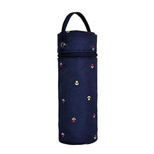 Win8Fong del bebé multifuncional gran capacidad pañales pañales Messenger bolsa de hombro rosa y negro Talla:40cm x 29cm x 18cm Dark Blue & Wine Red