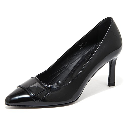 80278 Decollete PIRAMIDE Scarpa Nero Shoes Donna Cuoio Tod's Women 5dtSw5