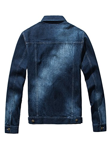 DAVID.ANN Men's Denim Jacket Slim Fit Trucker Coat