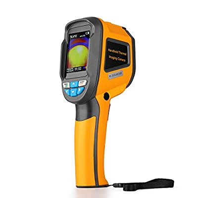 Flexzion Visual IR Laser Thermometer with Image Storage - Non Contact Digital Infrared Thermometer Heat Gun Handheld Thermal Imaging Camera Sensor