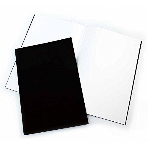 A3 Matt (Pack of 2x A3 Matt Black Cover Starter Sketchbooks, 140gsm White Cartridge Paper - A3 11.7 x 16.5