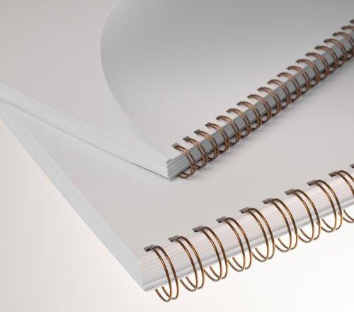 3: 1/divisione 34/passanti Renz One Pitch Wire binding elementi 3//20,3/cm silver matt 9.5/Wide