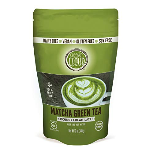 Coconut Cloud: Vegan Matcha Green Tea Latte | Delicious, Lightly Sweetened. Made in Colorado from Premium Japanese Grade Green Tea & Coconut Milk Powder (Dairy Free, Plant Based, Non-GMO, Soy & Gluten