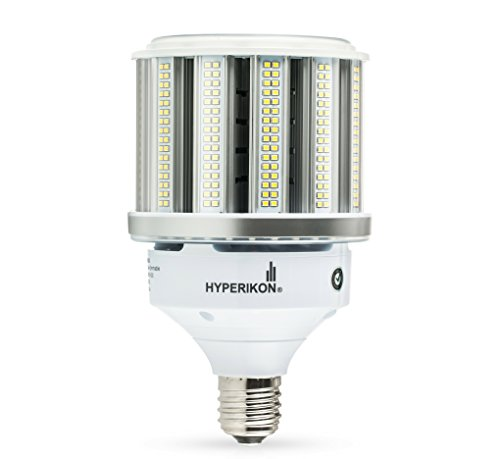 Hyperikon LED Corn Bulb Street Light, 80W (HIP HID Replacement), Outdoor Area Lighting E39 Large Mogul, 5000K, Waterproof