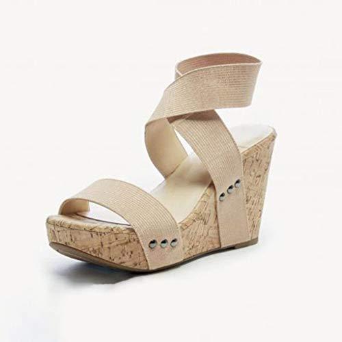 Sandalo Comfort In Basso Party Shoe Basse Romana Dresslksnf Elegant Sera Tacco Donna Beige Con Estivi Sandali Mid Scarpe Metallo Fibbia qvSwxFIO