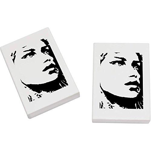 Azeeda 2 x 45mm 'Fille Artistique' gommes (ER00002534)