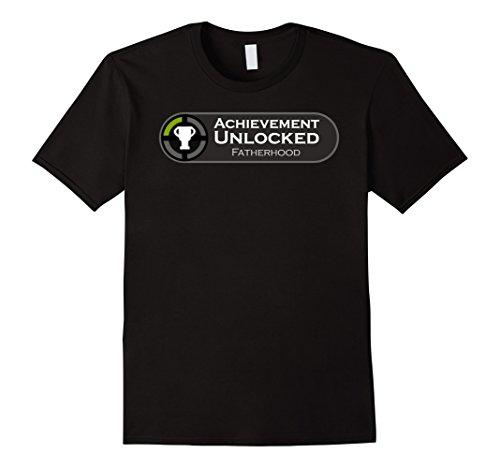 mens-fatherhood-achievement-unlocked-fathers-day-gift-tshirt-3xl-black