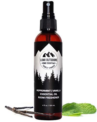 (Natural Air Freshener - Peppermint Vanilla - Essential Oil Odor Eliminating Room Spray)
