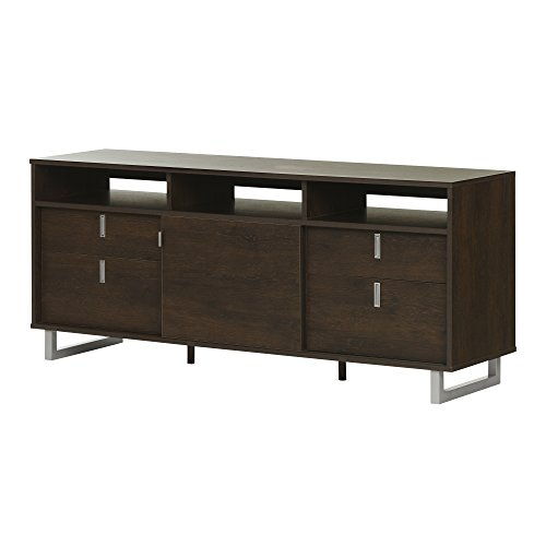 """Uber Stand-Fits TVs Up to 60"""", Brown Oak - South Shore 10521"""