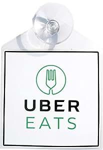 Uber Eats Rideshare Display Decal Placard Emblem With