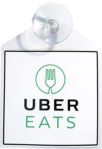 Uber Eats rideshare display decal placard emblem with suction cup