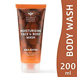 Bombay Shaving Company Moisturising Face & Body Wash with gentle, rich and healing Shea Butter for Dry Skin – 200 ml
