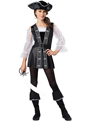 InCharacter Costumes Dark Pirate Costume, One Color, (Girls Pirate Ship)
