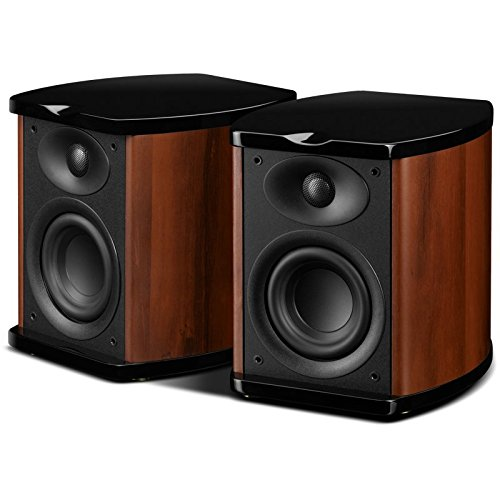 Swan Speakers - M100MKII - Powered 2.0 Wireless Bluetooth Bookshelf Speakers - Wooden Cabinet - 4'' Midrange-Bass Driver & 0.8'' Dome Tweeter - Excellent Heat Dissipation - 60W RMS
