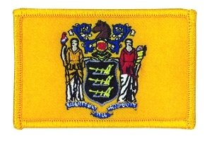 """New Jersey State Flag Patch, Size 3-1/8x2"""" Full Color, NJ Po"""