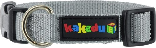 Kakadu Pet Empire Adjustable Nylon Dog Collar, 3/4″ x 13-19″, Metal (Silver), My Pet Supplies
