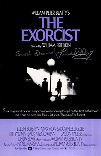 Linda Blair Signed The Exorcist 11x17 Movie Poster w/Sweet Dreams from Schwartz Sports Memorabilia
