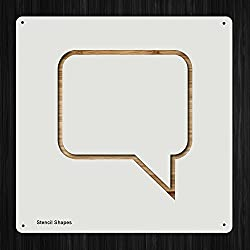 Speech Bubble Sign Online Open Resume Plastic Mylar Stencil for Painting, Walls and Crafts, Item 892889
