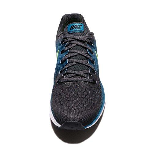 Nike Air Zoom Pegasus 34 Herren Laufschuhe Anthrazit / Volt / Blau Orbit / Schwarz