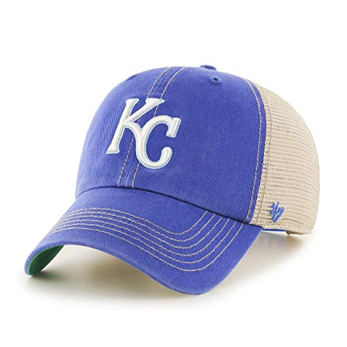 '47 Brand Kansas City Royals Trawler Clean Up Adjustable Hat Cap, Snapback Blue -