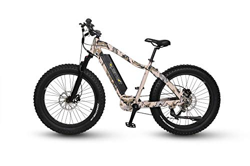 QuietKat 2019 Predator 750W Electric Bike for Backcountry, Hunting, Fishing - Bafang Mid Drive Motor, 9-Speed Gear, Hydraulic Disc Brake (Camouflage, 17