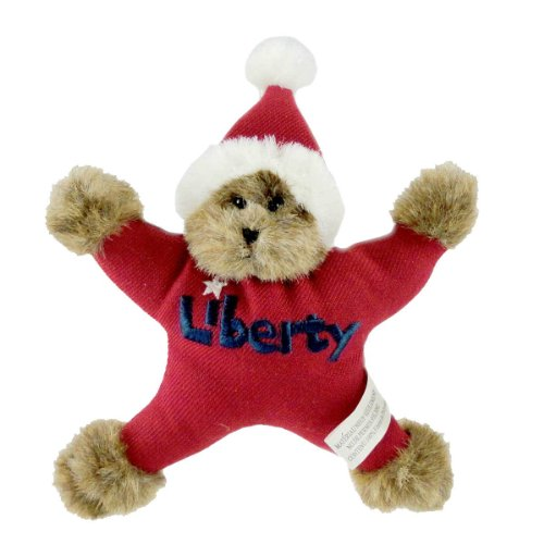 Boyds Bears Plush Liberty Star Bear Ornament Patriotic Santa Christmas - Plush & Fabric 4.50 IN