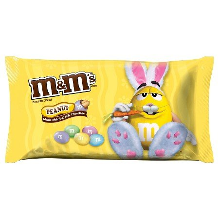 M&Ms Peanut Bunny Mix Colors Milk Chocolate Candies 11.40 oz -