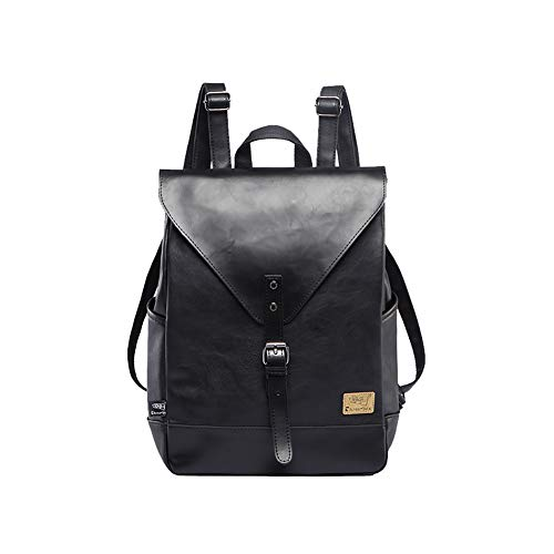 St. L'amour Women Fashion Backpack Male Travel Backpack Mochilas School Mens Leather Business Bag Large Laptop Shopping Travel ()