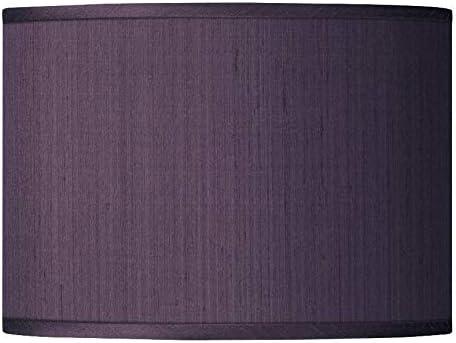 Eggplant Faux Silk Drum Shade 13.5X13.5X10 Spider – Possini Euro Design