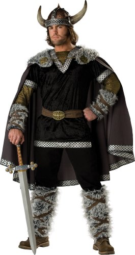 InCharacter Costumes Men's Viking Warrior Costume, Black/Gold, Large