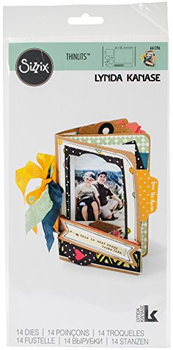 Sizzix Thinlits Die, Mini Album by Lynda Kanase, 14 - Mini Stamp Album