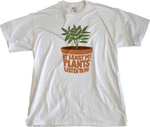 Ann Arbor T-Shirt Co. Men's At Least My Plants Listen To Me T-Shirt