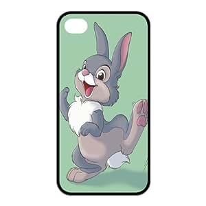 Cubierta mkCase Diseña la cubierta TPU de la historieta linda del caso (cáscara dura) para el iPhone 4 / 4s YQC11022 - Thumper De Bambi