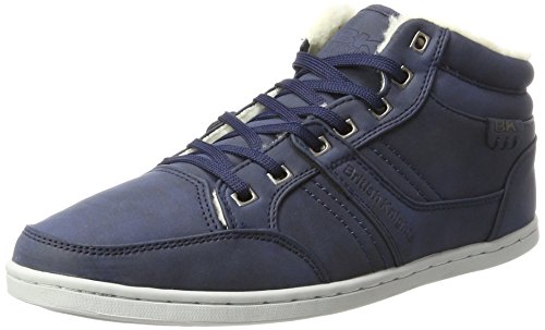 02 Uomo Knights Style Re Sneaker Navy Alto Collo a Mid Blu British aqPw58OO