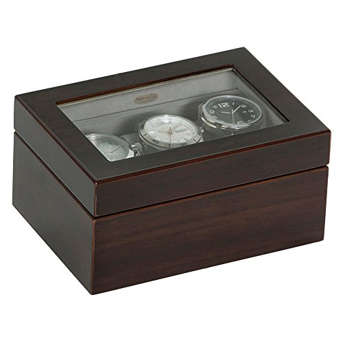 Granby Glass Top Wooden Watch Box – 7L x 5W in.