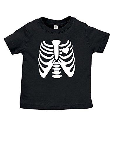 Esti's Baby Couture X-Ray Skeleton Halloween Costume T-Shirt   Funny Baby Girl Boy Unisex Tshirt Novelty Shirt   Black   12-18 -
