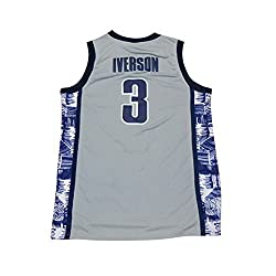 Men's Iverson Jerseys 3 The University Basketball Jersey Gray (L)