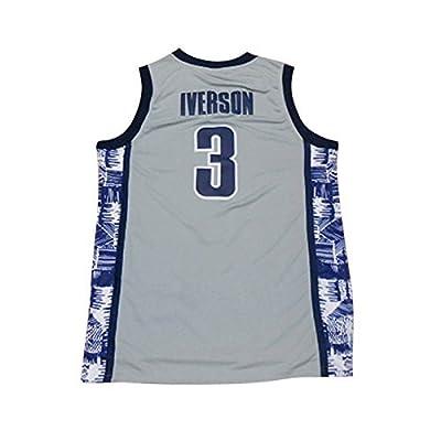 Men's Iverson Jerseys 3 The University Basketball Jersey Gray (L)